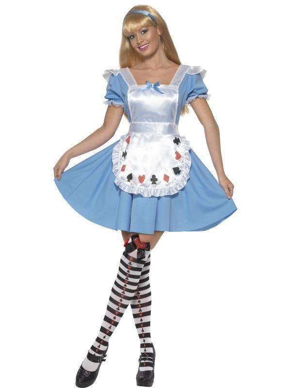 Alice in Wonderland Kaarten Kostuum