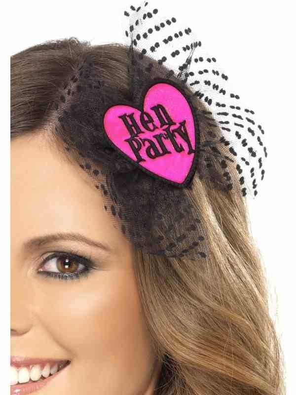 Hen Party Zwart Roze Haarclip