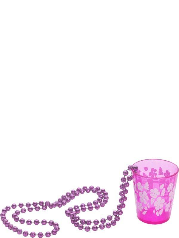Roze Shot Glas aan Kralenketting