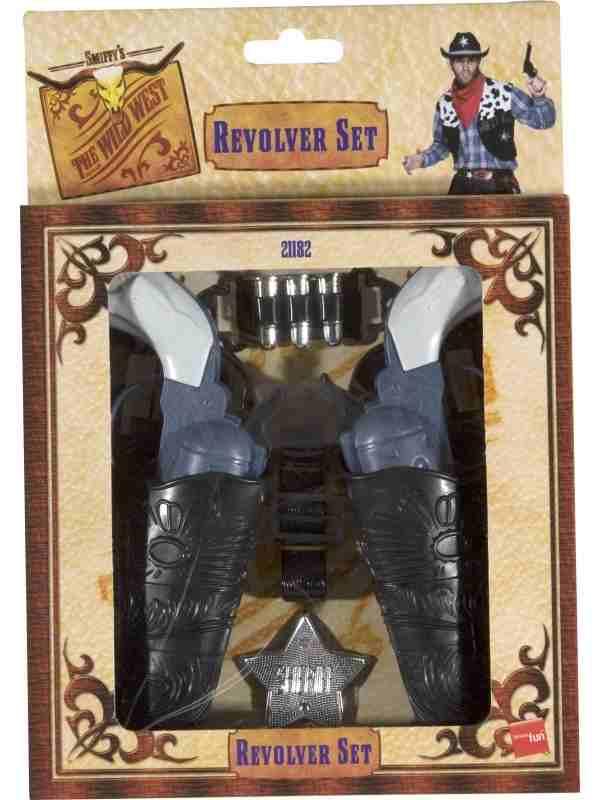 Western Cowboy Pistolen met Holster Set