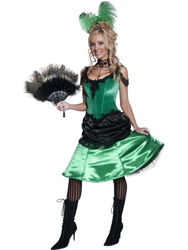 Western Saloon Girl 1920's Kostuum