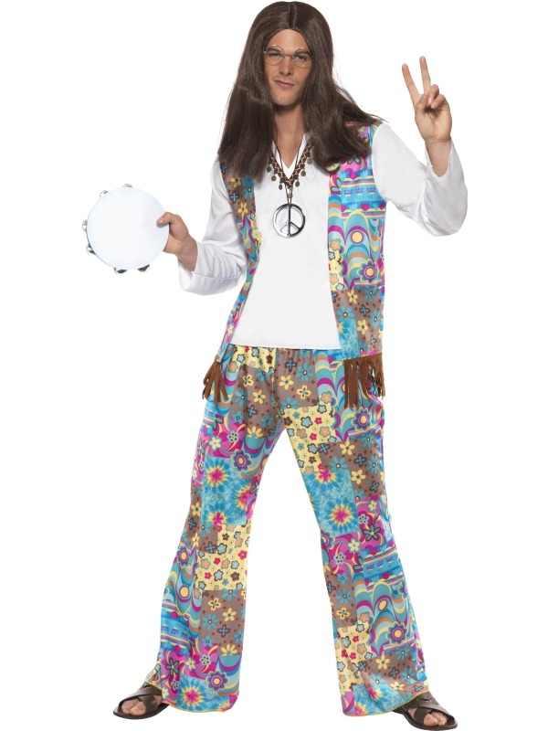 Groovy Hippie Heren Verkleedkleding