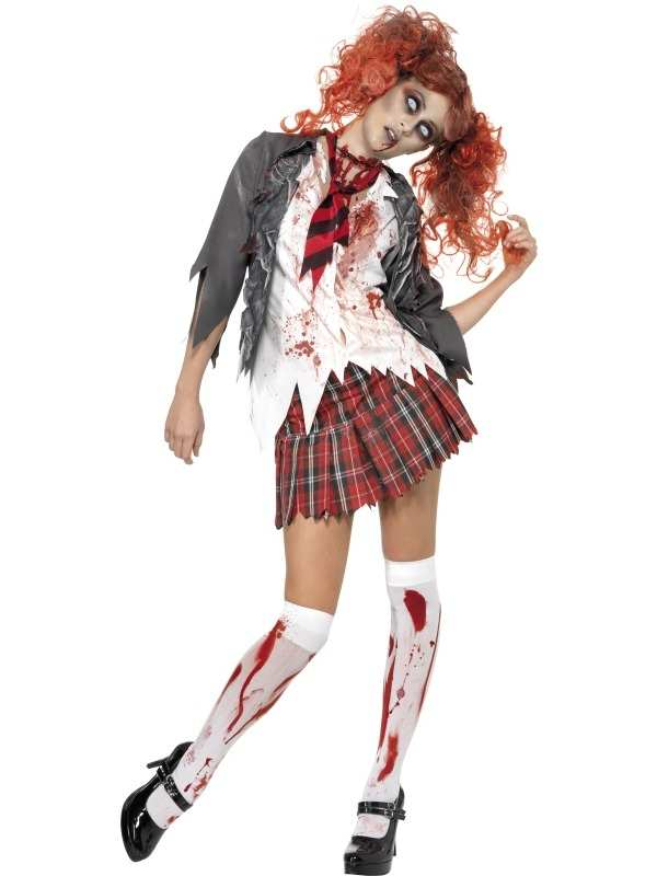 High School Horror Zombie Studente Kostuum