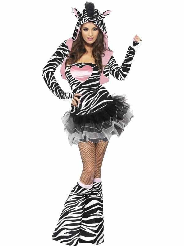 Fever Sexy Zebra Dames Verkleedkostuum