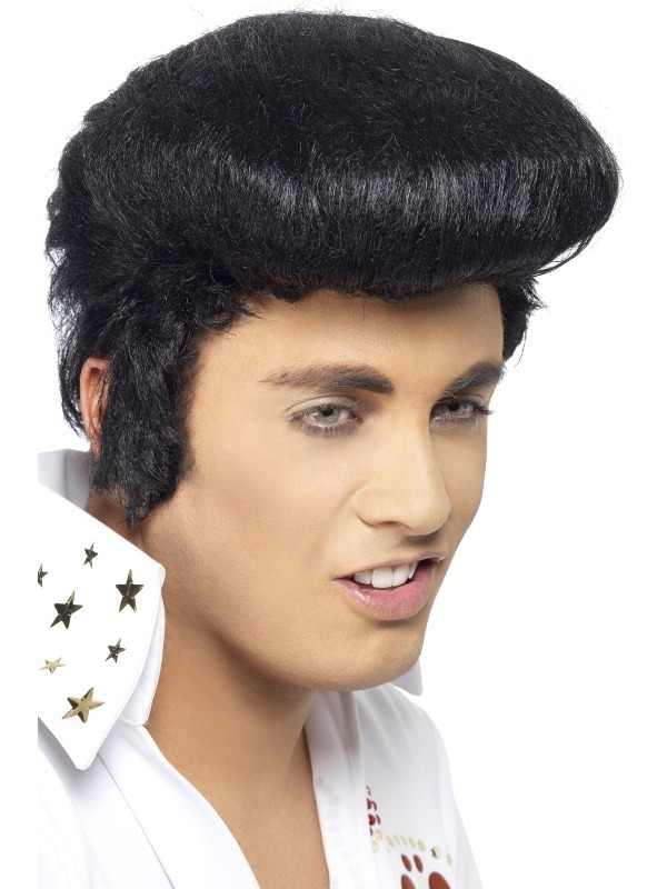 Elvis Deluxe Pruik met Kuif