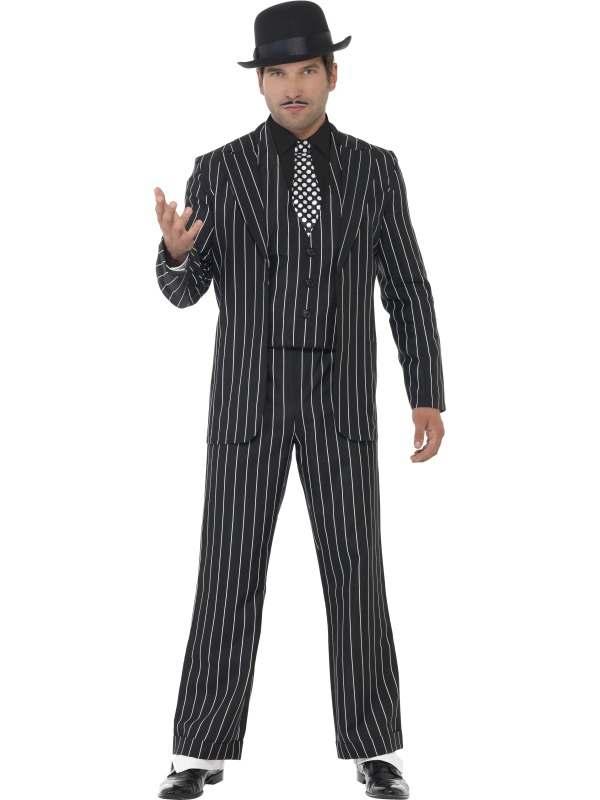 Vintage Gangster Baas Heren Kostuum