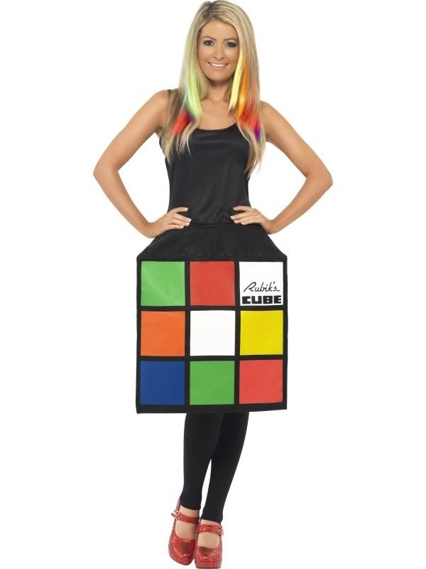 Rubiks Kubus Dames Verkleedkostuum