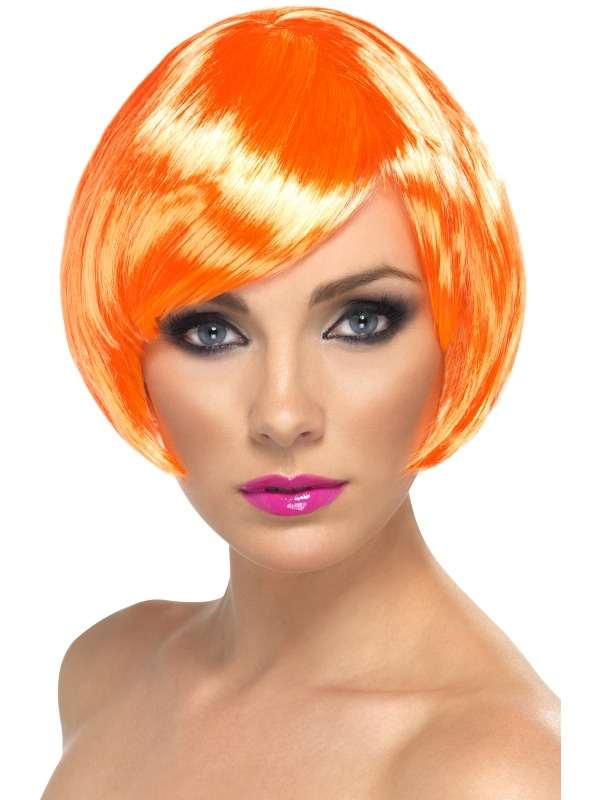 Oranje Korte Babe Pruik