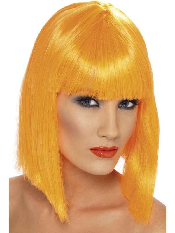 Glamour Oranje Korte Pruik