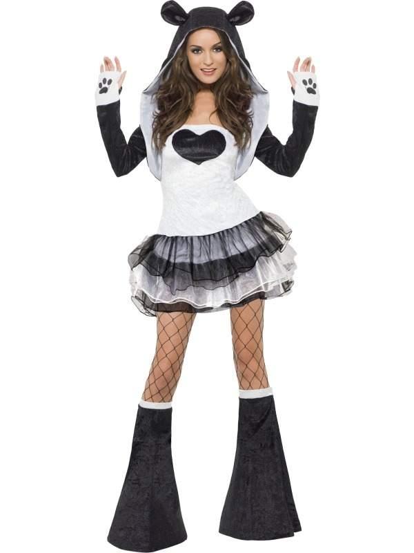 Fever Sexy Panda Dames Verkleedkostuum