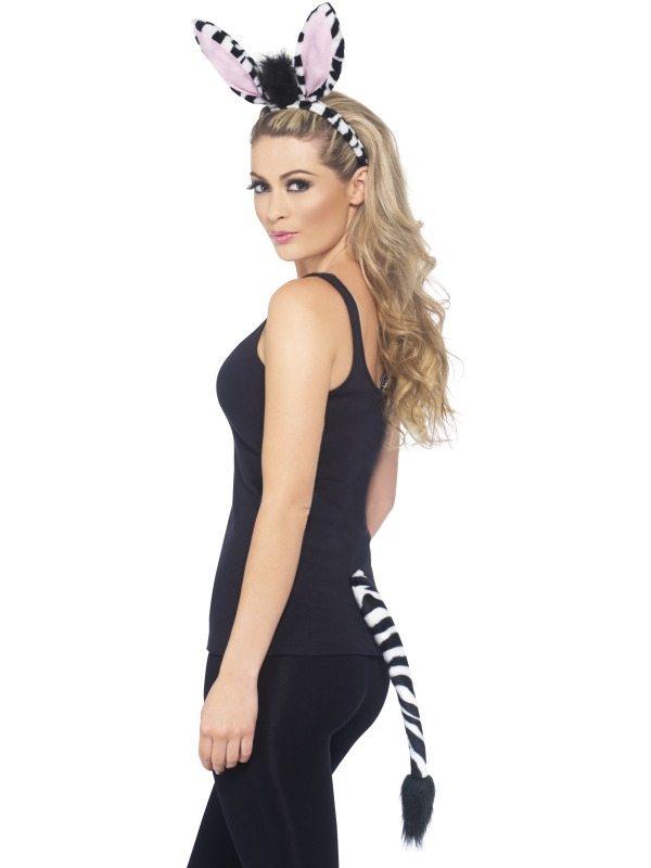 Zebra Verkleedsetje Met Oren en Staart