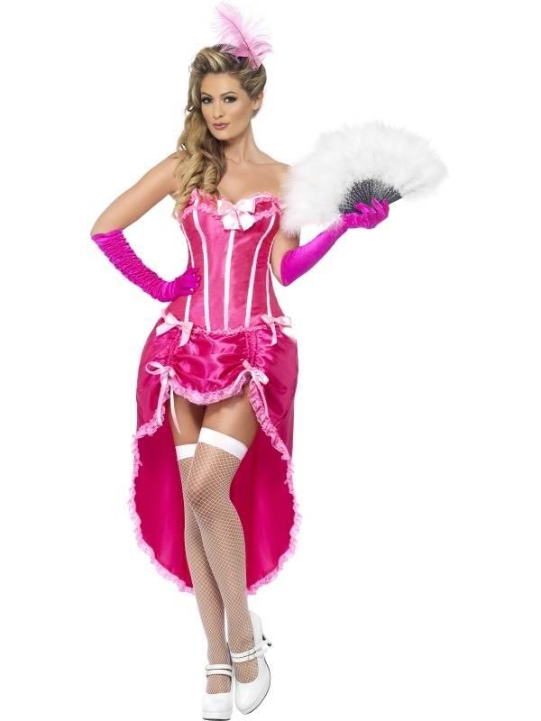 Roze Burlesque Danseres Verkleedkleding