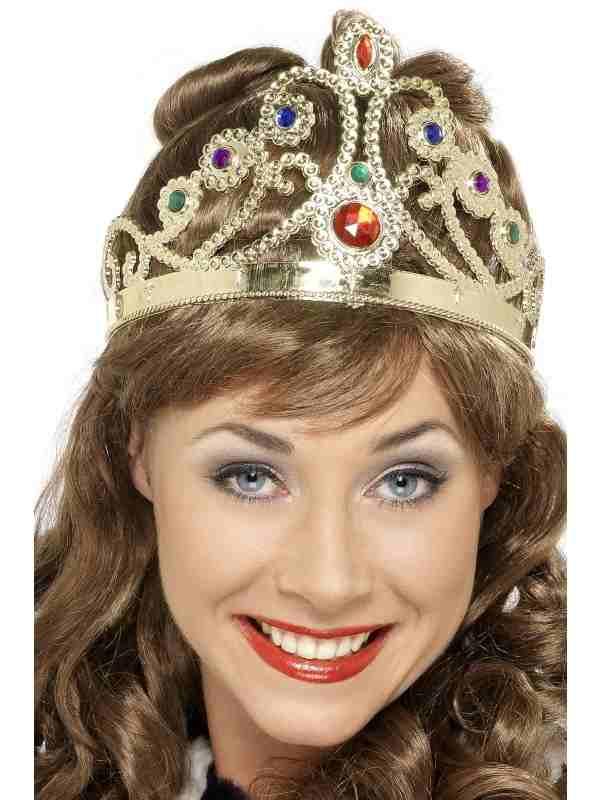 Gouden Koninginnen Kroon met Steentjes