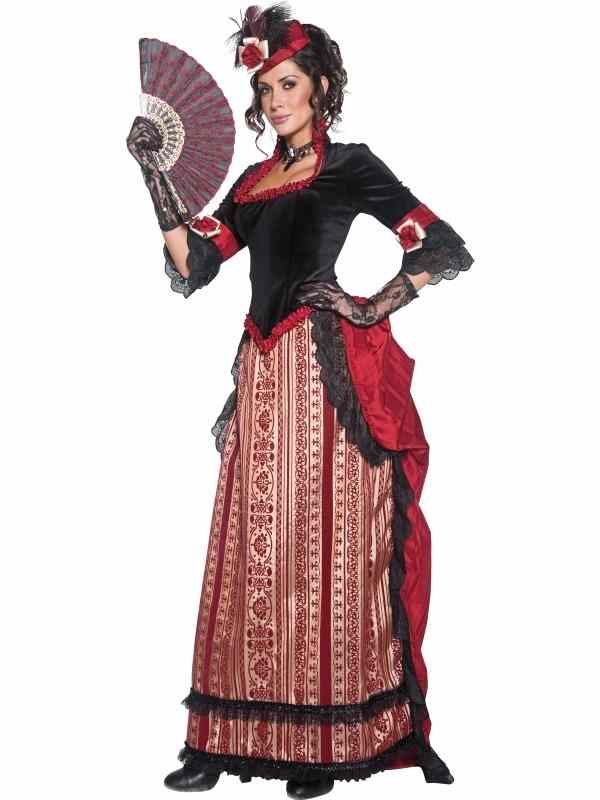 Authentieke Western Cowgirl Sweetheart Kostuum