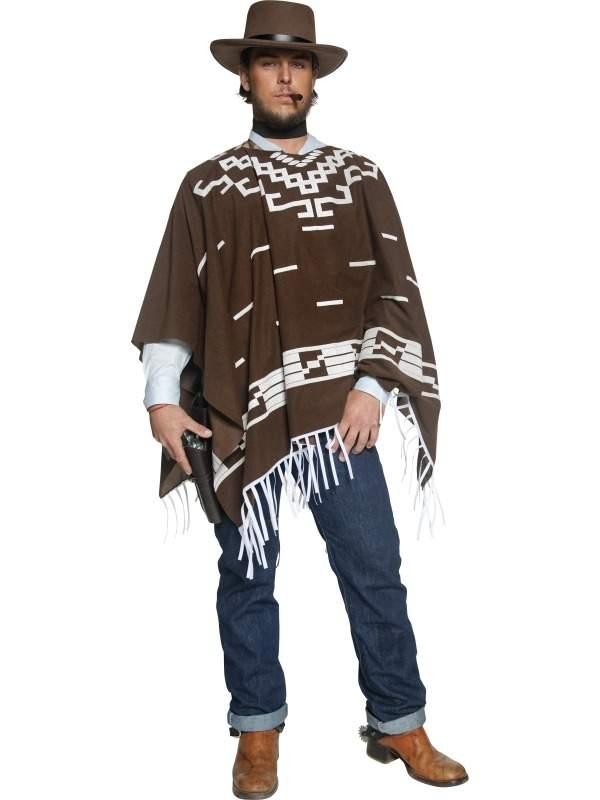 Western Cowboy Poncho Kostuum