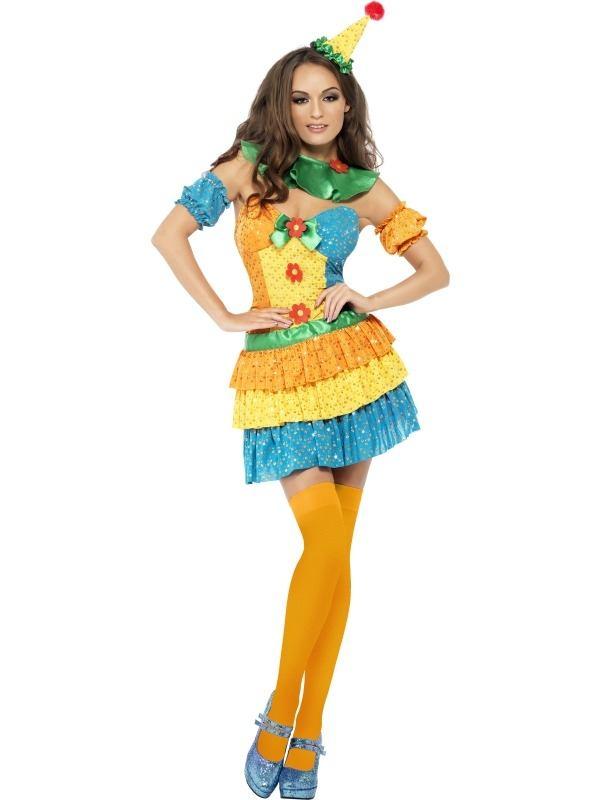 Fever Kleurrijke Clown Cutie Verkleedkostuum