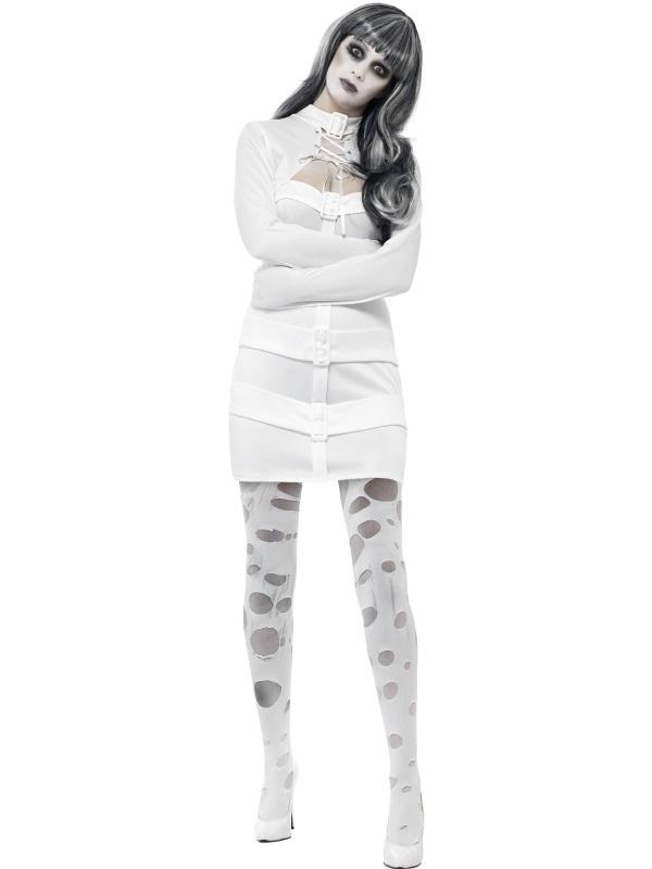 Psycho Dames Dwangbuis Halloween Kostuum