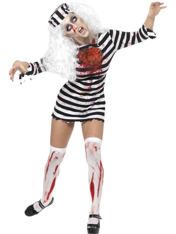 Zombie Convict Boef Halloween Verkleedkostuum