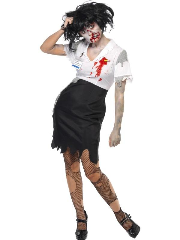 Work to Death Zombie Dames Halloween Kostuum