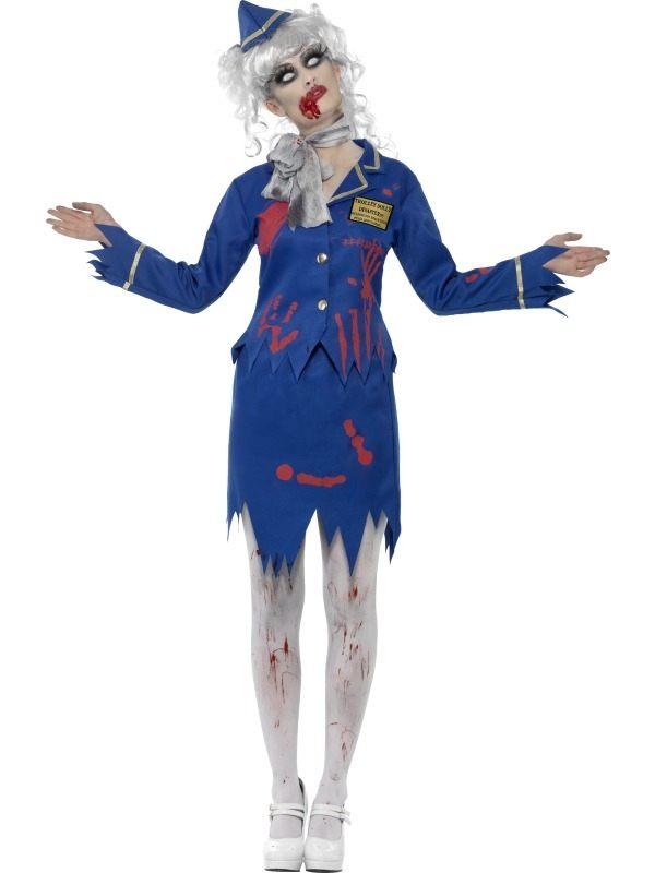 Zombie Stuwardess Halloween Verkleedkleding