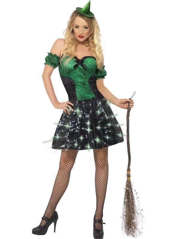 Fever Wicked Witch Heksen Jurk met Lichtjes