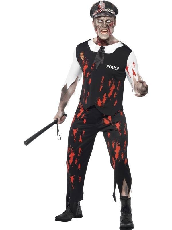 Zombie Politieagent Halloween Verkleedkleding