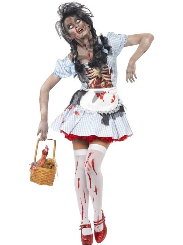 Horror Zombie Dorothy Tovenaar van Oz Halloween Kostuum