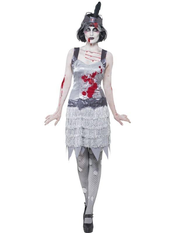 Zombie Flapper Charlston Horror Kostuum