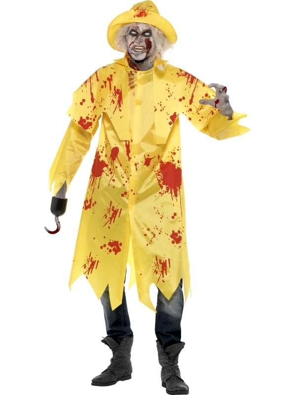 Zombie Zuidwester Heren Halloween Kostuum