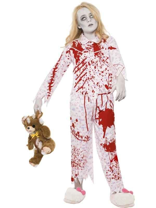 Zombie Pyjama Girl Meisjes Halloween Kostuum