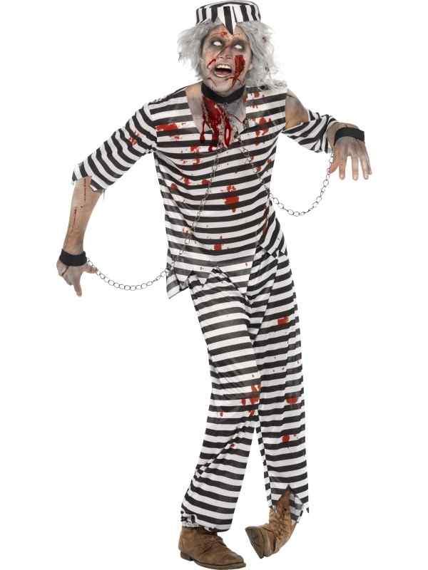 Zombie Gevangenen Boef Heren Verkleedkostuum