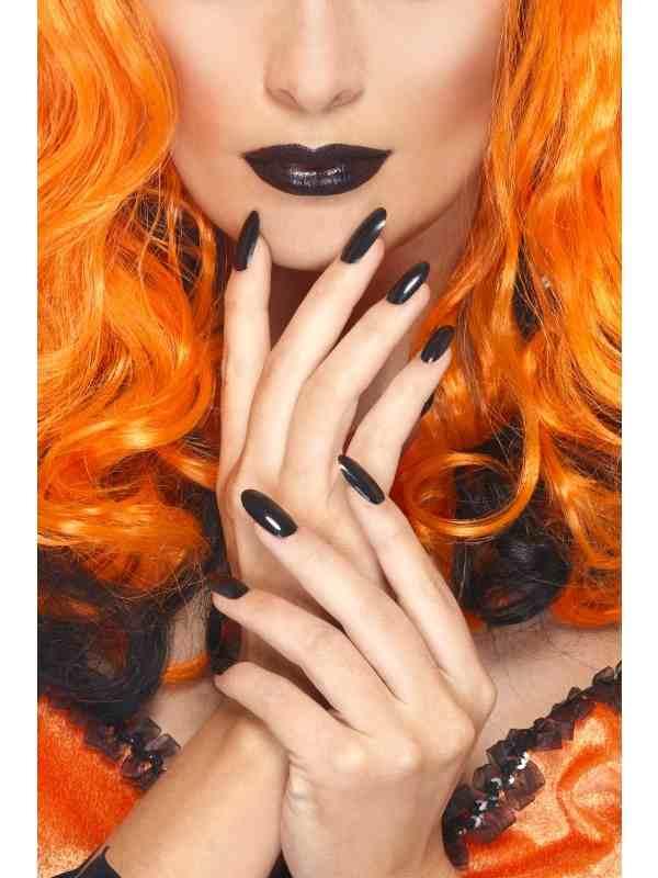 Zwarte Lippenstift en Nagellak Set