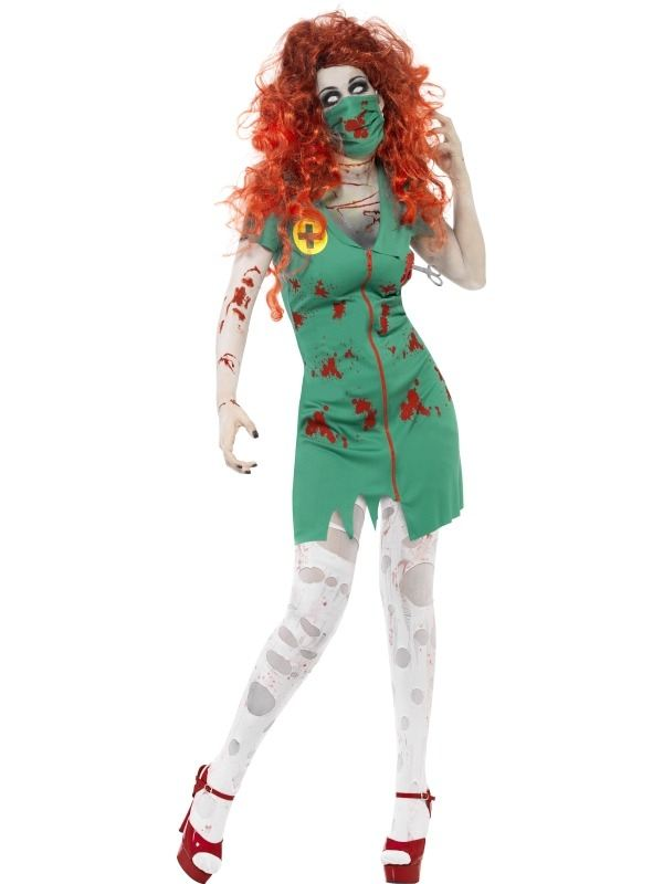Zombie Zuster Ok Assistente Halloween Kostuum
