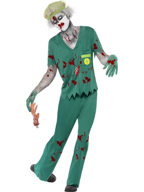 Zombie Paramedic Arts Heren Halloween Kostuum