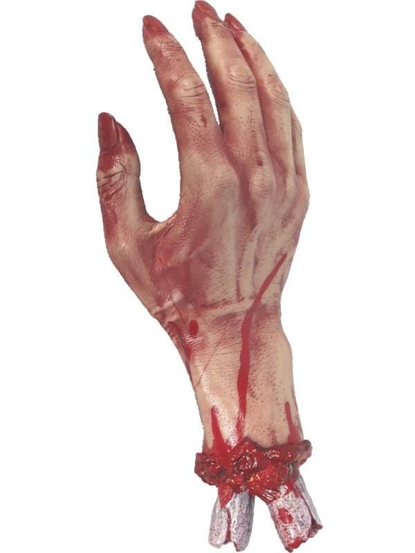 Afgehakte Bloederige Hand Halloween Versiering