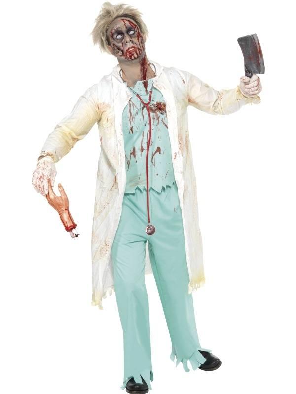 Zombie Dokter Heren Halloween Kostuum