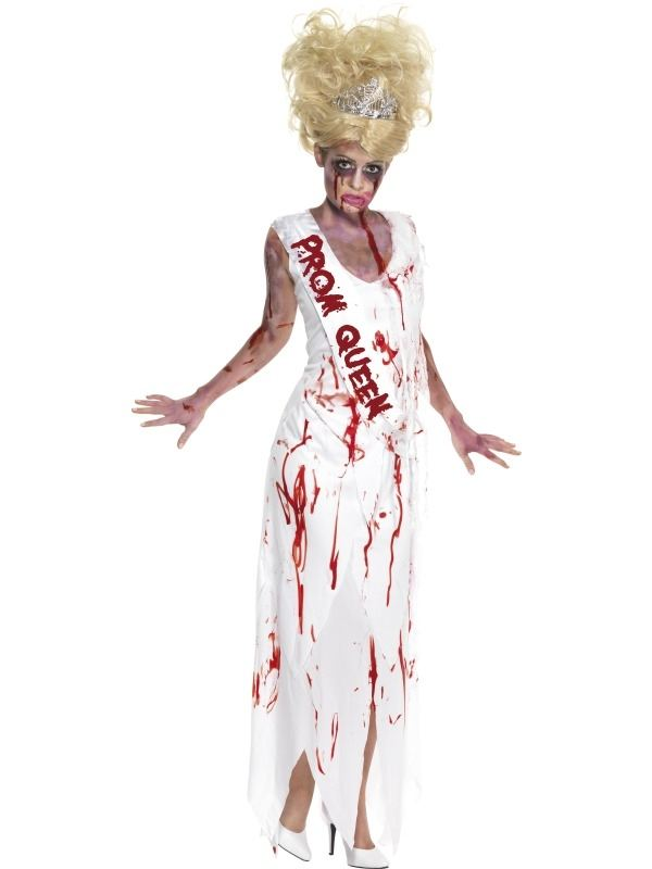 High School Horror Zombie Prom Queen Kostuum