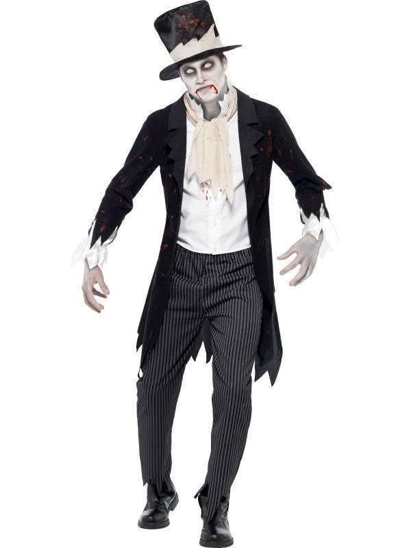 Zombie Bruidegom Halloween Heren Kostuum