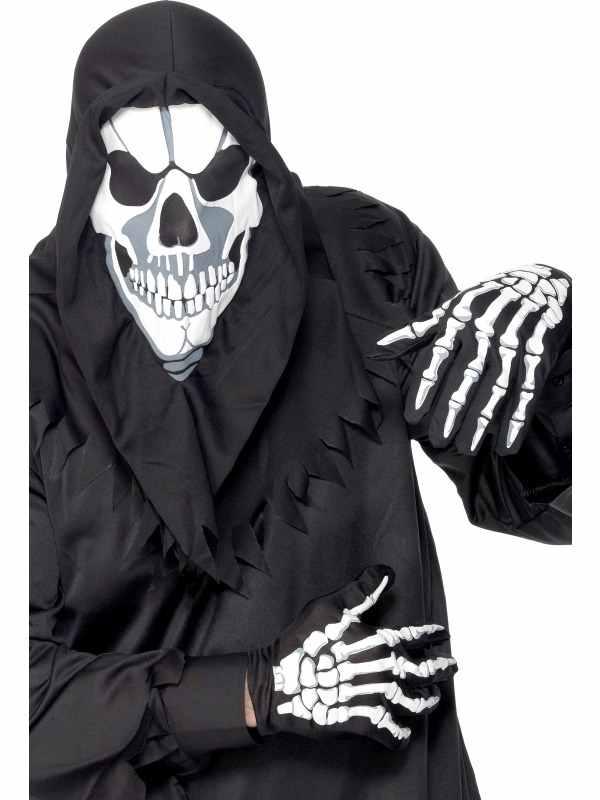 Skeleton Skeletten Verkleedsetje met Hoody en Handschoenen