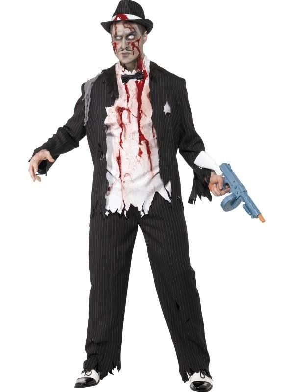 Zombie Gangster Horror Halloween Kostuum