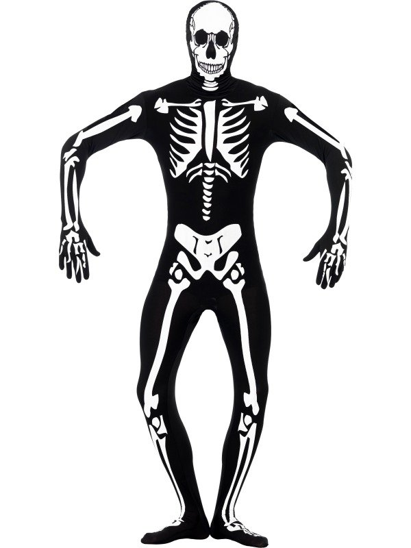 Skeleton Glow in the Dark Morphsuit Halloween Kostuum