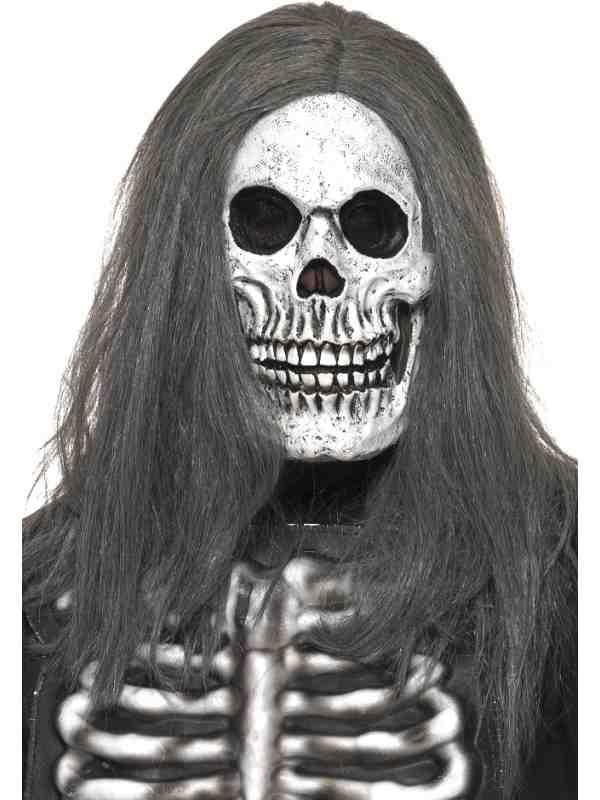 Sinister Skeleton Skeletten Horror Masker Met Haar