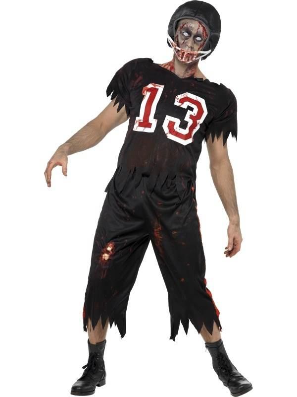 High School Horror Zombie American Footballer Kostuum