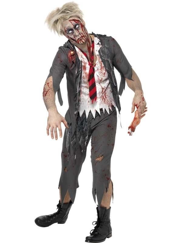 High School Horror Zombie School Boy Kostuum
