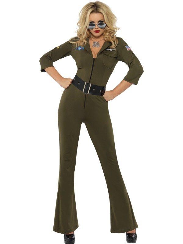 Top Gun Aviator Dames Verkleedkleding