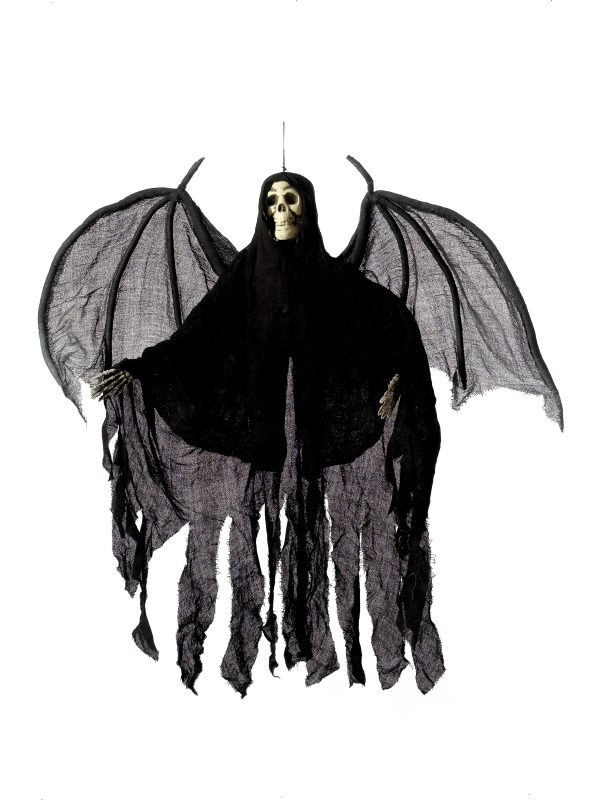 Black Angel Hangend Skelet Halloween Versiering