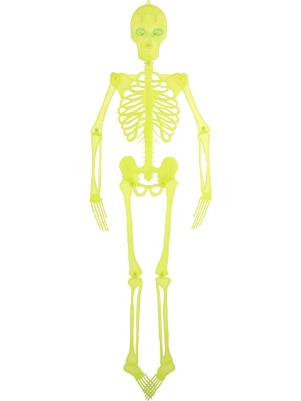 Neon Skelet met Lichtjes Halloween Versiering