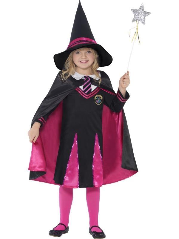 Witch School Girl Meisjes Heksenkostuum