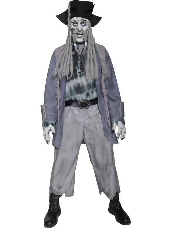 Zombie Ghost Pirate Piraten Heren Kostuum