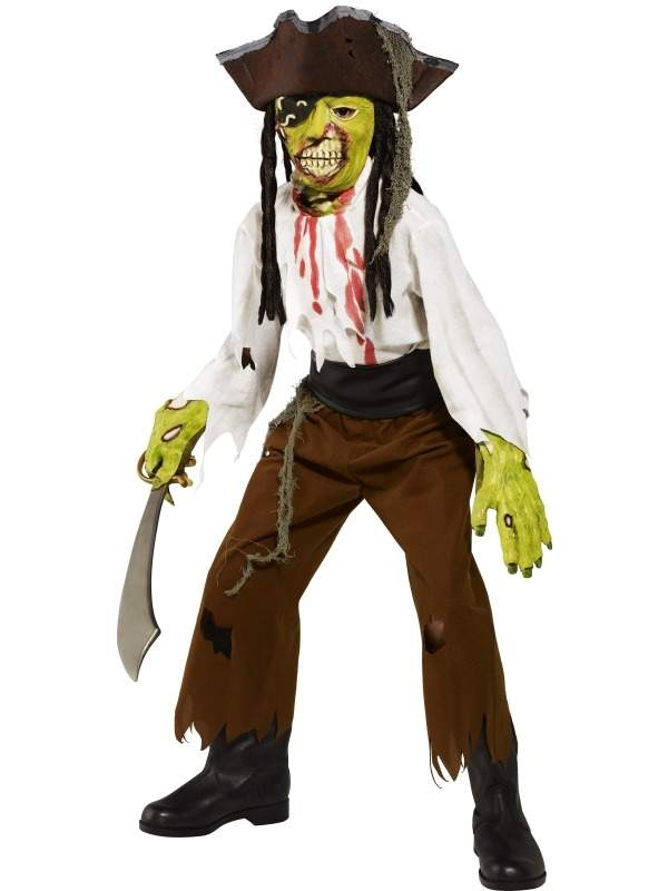 Enge Horror Piraat Jongens Halloween Kostuum